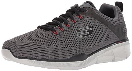 Skechers equalizer 3.0, scarpe sportive indoor uomo, grigio (charcoal/black ccbk), 40 eu