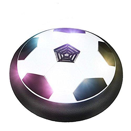 Football di Airpower - Hover Ball Calcio indoor con illuminazione a LED, perfetto per giocare negli spazi interni senza danneggiare mobili o pareti (nero)