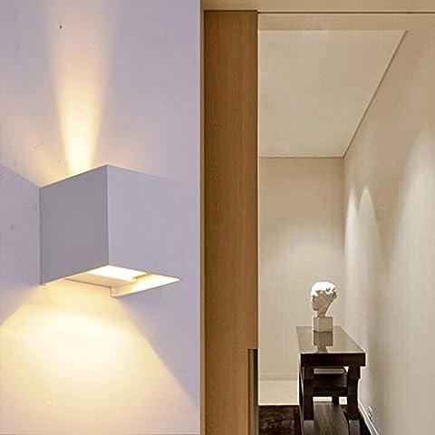 K-Bright 12W Applique Murale Intérieur LED Moderne Lampe,Avec Design d'angle De Faisceau étanche IP 65,Gris Aluminium Lumière,Interieur Decorative pour chambre à coucher, salon, cuisine, couloir, chemin et escalier,230V,Blanc Chaud