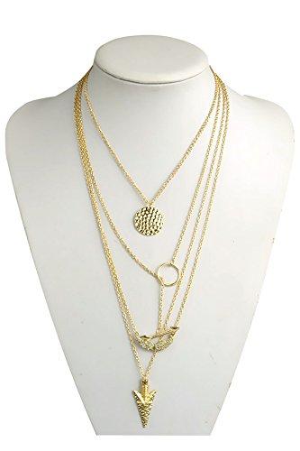 Preisvergleich Produktbild Anweisung Bib Alloy Halskette Frauen Choker Kette Modeschmuck mit Angel Wings Pfeile Muster Anhänger