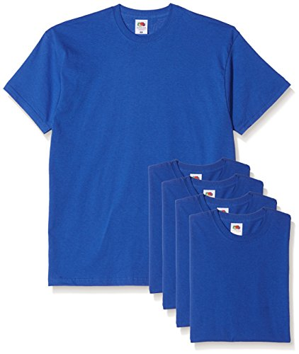 Fruit of the Loom Herren T-Shirt, 5er Pack Blau (Königsblau)