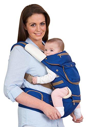 Clevamama  5 Positionen Ergonomische Baby und Kindertrage Bauch und Hüfttrage