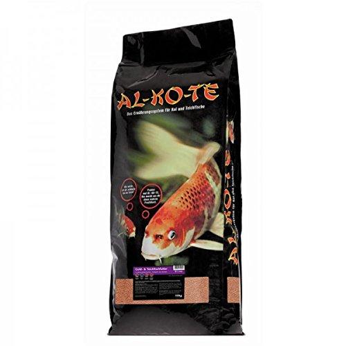 AL-KO-TE, 3-Jahreszeitenfutter für kleine Kois, Frühjahr bis Herbst, Schwimmende Pellets, 2mm, Gold-& Teich-Fischfutter, 13,5 kg