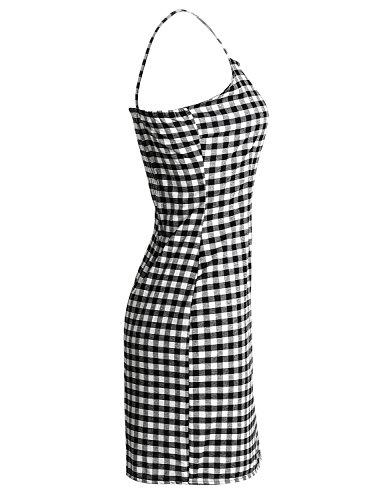 Simplee Apparel - Robe - Moulante - Femme motif écossais