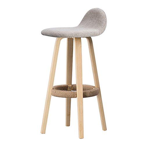 Mena Uk Massivholz Dining Barhocker Moderne Möbel Leinen Pedal Design Holz Stil Stuhl für Office Lounge Esszimmer Küche (Farbe : 1, größe : 33cmX33cmX69.5cm)