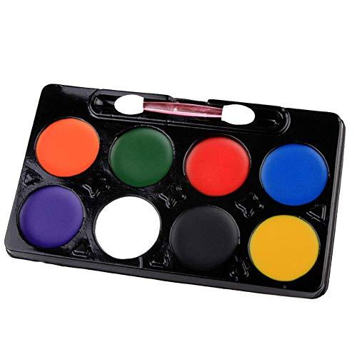 Ogquaton 8 Farben Multi Usage ungiftig waschbar Pigment Body Paint Art Supplies langlebig und praktisch