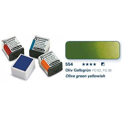 Akademie-Aquarellfarbe 1-2 Napf, Oliv Gelbgrün [Spielzeug]