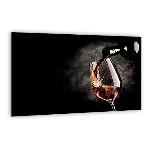 Herdbedeckplatte 80 x 52 cm | Schneidebrett | Spritzschutz | Mehrfarbik Glasplatte | Gehärtetes Glas Topfuntersetzer | Servierplatte | von semUp (Element Herd Für)