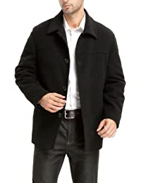 BGSD Men's 'Matthew' Wool Blend Car Coat (Regular Big & Tall)