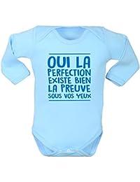 Body pour bébé, humour, texte rigolo, bébé parfait, cadeau de naissance, 460ab8d8f4a