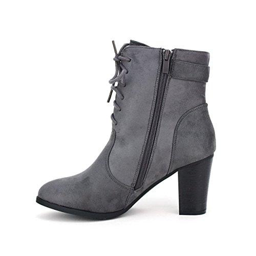 Cendriyon Lows Boots Noires Tom et Eva Chaussures Femme Gris
