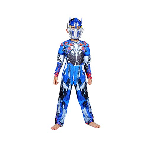KAKAFASHION Halloween-Kostüm, Muskel, Iron Man, Captain America, Superman, Batman, Spider-Man, Grün, Riesen-Optimus Prime-Serie, geeignet für Jungen S-L 90-135 cm
