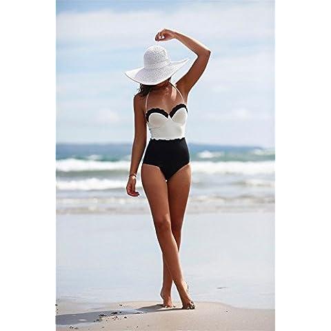 Interesting® De las mujeres atractivas de la playa de la alta cintura de una pieza del traje de baño bañadores empujan hacia arriba rellenado del