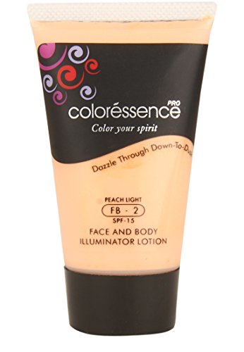 Coloressence Face and Body illuminator Lotion, Peach Light (35ml)
