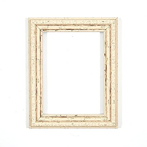 Ornate Shabby Chic Picture/Photo/Poster frame - With an MDF backing board - Ready to hang - With a High Clarity Styrene Shatterproof Perspex Sheet Distressed White - A1 - FBA - oscf-dstdwht-A1