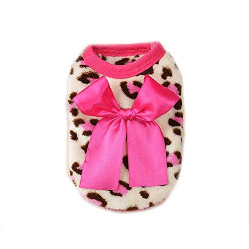Leopard Sweetie Kostüm - IEason Pet Kleidung, Haustier Katze Hund Puppy Warm Knit Coat Kleidung Weste Jacke Bekleidung Kostüm, XS, Rose