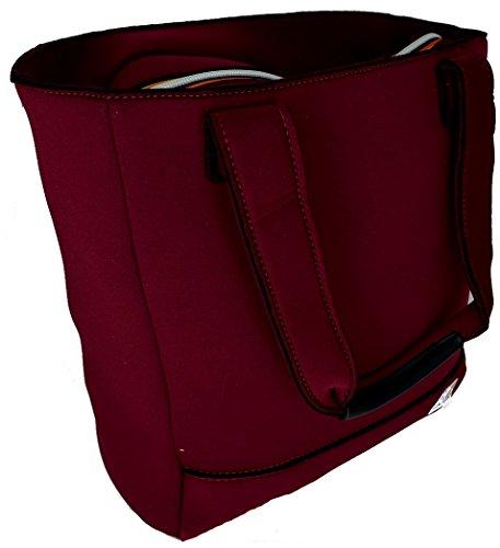 Borsa Shopping Donna K-Way Bag Woman K-Sea N/S Shopper -Bordeaux