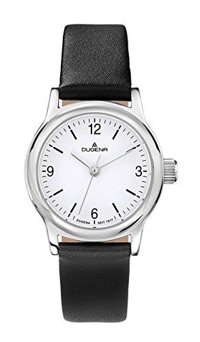 Dugena Women's Quartz Watch with Black Dial Display Sporty and elegant Analog Quartz Leather 4460633