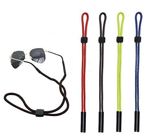 4PCS Sport Sonnenbrille Halter Eyewear Brillen Retainer mit Gummi Griff verstellbar Sicher Hals Kordel Schlaufe Seil Kordel für Sport und Outdoor activities-kid, Männer, Frauen (zufällige Farbe)