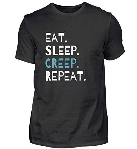 Eat Sleep Creep Repeat - An Halloween Das Wahre Gruselige schreckliche Ich Zeigen - Herren Organic Shirt