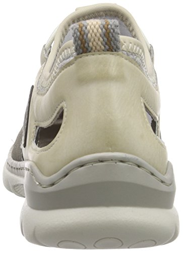 Rieker L3261 Women Low-top Damen Sneakers Grau (staub/offwhite/silverflower/polvere/beige / 42)