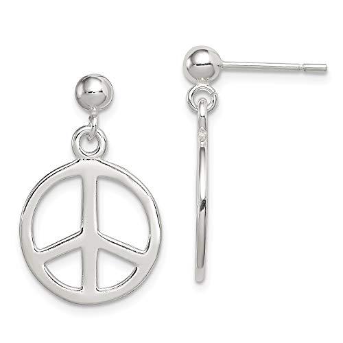 Ohrringe Peace-Zeichen 925 Sterling Silber