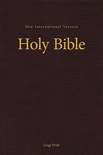 NIV, Pew and Worship Bible, Large Print, Hardcover, Burgundy