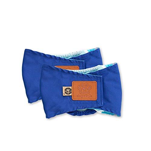 PETCUTE Hundewindeln Waschbare Bauchband für Männliche Hunde Hund Hygieneunterhose 2er Pack Hund Windeln wiederverwendbar (Extra Kleine Pet Kostüme)