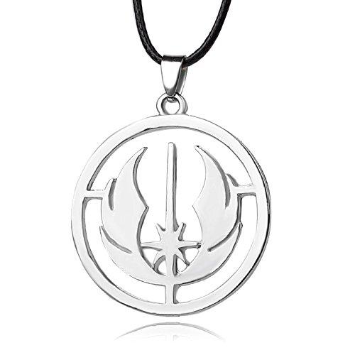 Staw Wars Jedi Orden Symbol Anhänger Leder Schnur Halskette Kostüm Requisiten