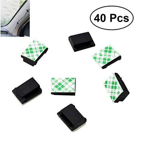 Preisvergleich Produktbild VORCOOL 40 Stücke Selbstklebend Kabelschellen/Kabel-clips für Haus, Büro, Auto, PC