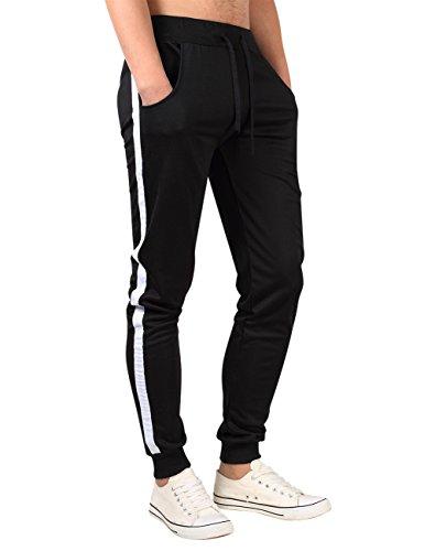 MISSKY Men's Casual Sport Jogger Slim Fit Pants Sweatpants