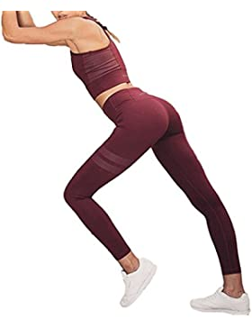 Chickwin Yoga Conjunto de Mujer, Mujeres Chaleco Deportivo Top and Leggings Gimnasio Ropa Chándal Yoga
