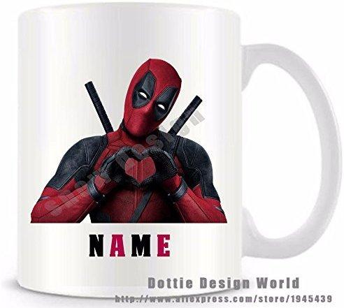 onalisierte Deadpool Funny Travel Neuheit Tasse Keramik weiß Kaffee Tee Milch Tasse Custom Geburtstag Weihnachten Geschenke ()