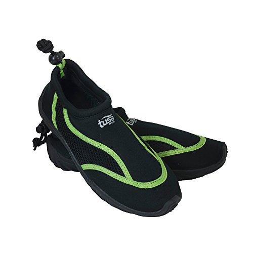 TUSA Sport Slip on Aqua Chaussure, Homme, UA-0101-BK-8, Noir/Vert, 8