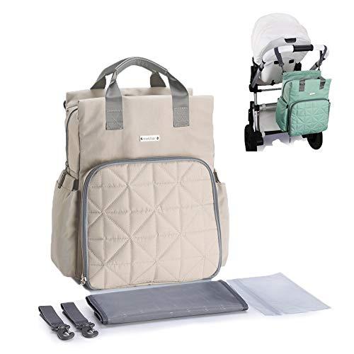 Nwhw Wickeltasche Rucksack - Multifunktions Travel Back Pack Mutterschaft Baby Baby Essentials, Große Kapazität Wasserdicht Und Stilvoll, Kinderwagen Organisieren,Coral