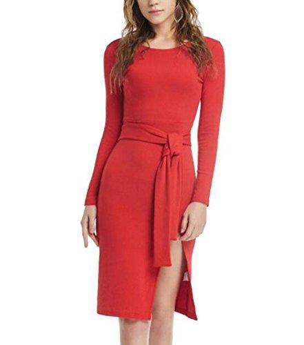 ZFANG Weihnachten Cosplay Frauen Sexy Partykleid Kleid Langarm Rundkragen Kleid , red , (Kostüm Killer Bunny Halloween)