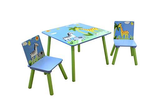 Butterfly-tisch-stuhl-set (Liberty House Toys Safari Tisch und zwei Stuhl Set, Holz, mehrfarbig)