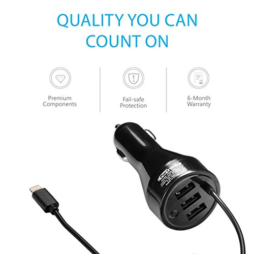 portronics car power 2 3usb port with micro usb cable