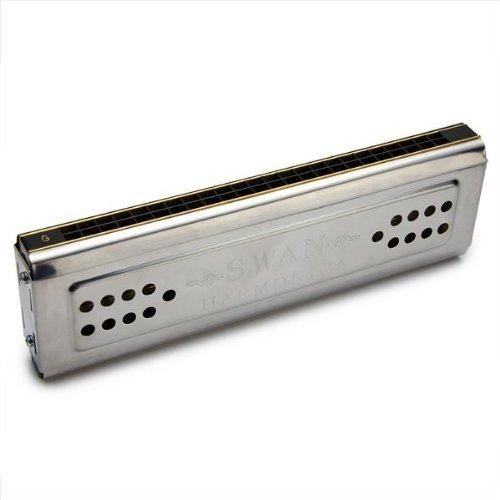 Swan 24 Löcher Zweiseitig C & G Tremolo abgestimmt Mundharmonika Blasinstrument