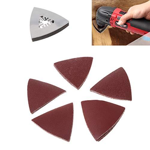 A0127 26 Stück Schleifpapier & dreieckige Schleifunterlage für Fein Dremel Power Multi Tools