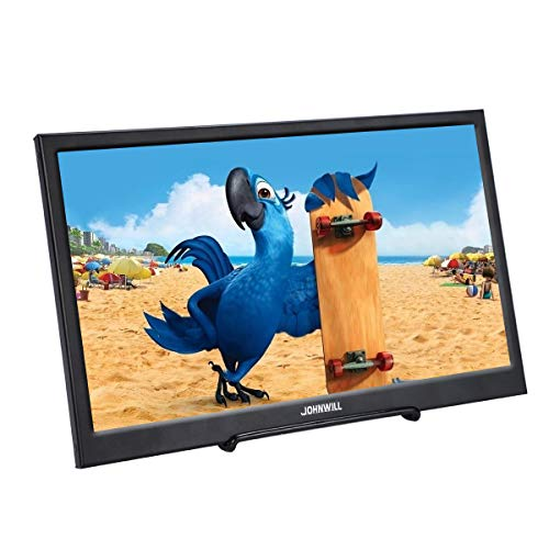 JOHNWILL tragbarer Monitor Zoll IPS-Bildschirm Full HD 1920 x 1080 Monitor tragbare ultradünne Schwarze Metallschale Eingebauter Lautsprecher, Kompatibel mit Laptop,Raspberry Pi (11.6 Zoll dünn) (Hdmi-monitor 12 Zoll)