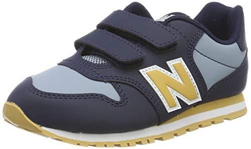 New Balance Jungen Yv500v1 Sneaker, Blau Navy/Yellow, 37.5 EU (Balance Kinder New Jungen Schuhe)