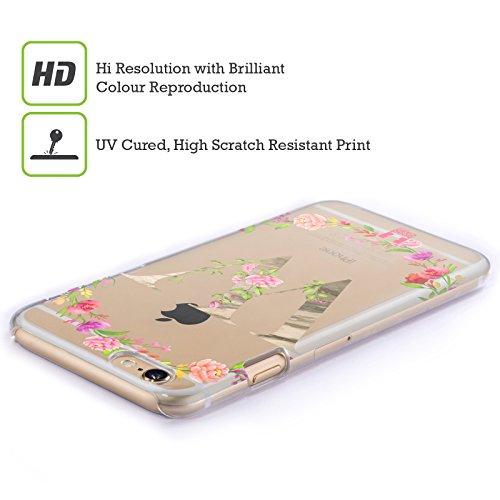 Head Case Designs Buchstabe T Dekorative Initialen 2 Ruckseite Hülle für Apple iPhone 6 / 6s Buchstabe W