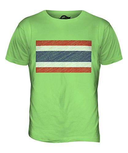 CandyMix Thailand Kritzelte Flagge Herren T Shirt Limettengrün