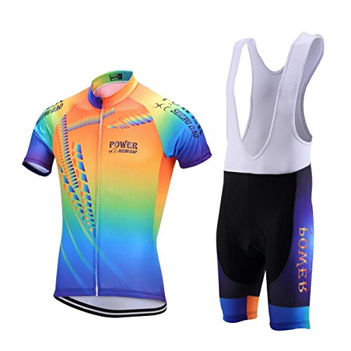 Uniquebella Conjunto de ciclismo para hombre, camiseta de manga corta, camiseta, ropa de bicicleta, para hombres, transpirable–Maillot de manga corta con acolchado 3D, cómodo, tallas M-3XL