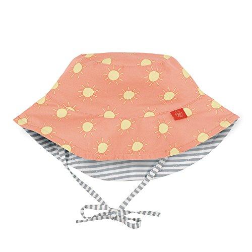 LÄSSIG Baby Kinder Sonnenhut Strandhut Sommerhut Sonnenschutz Kinderhut Babymütze Wendbar Atmungsaktiv UV-Schutz 50+/Splash & Fun Sun Protection Bucket Hat, Size: New Born 0-6 Monate, orange