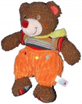Nicotoy Doudou peluche ours marron nez rouge Nicotoy Salopette orange 26 cm 579/1422 | Avec Une Réputation De Longue Date