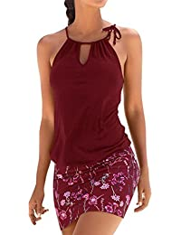 GreatestPAK_Robes Robes de Cocktail Moulantes, de Vacances à Manches Courtes pour Femmes Robe de Plage à Manches Courtes pour Femmes