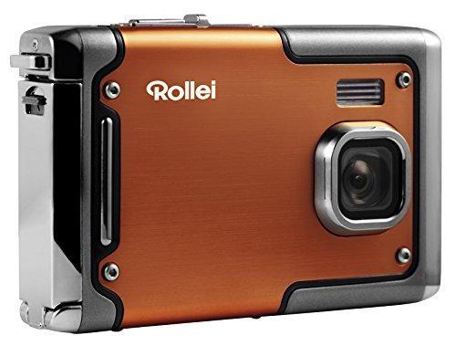 Rollei Sportsline 85 - Digitalkamera - 8 Megapixel - 1080p Full HD Videofunktion - wasserdicht bis zu 3 Metern - Orange