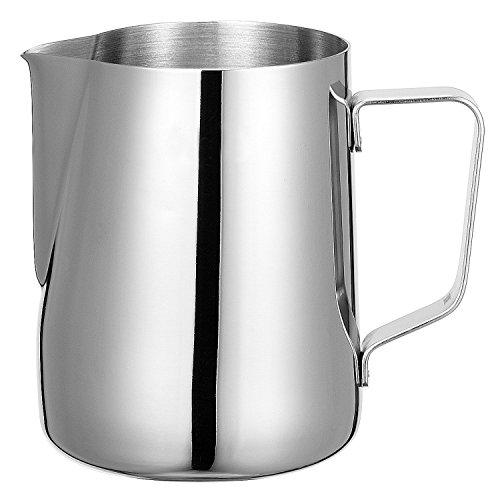 Shayson, brocca per schiumare il latte in acciaio inox, lattiera per caffè-latte, latte e cappuccino, capienza 600 ml